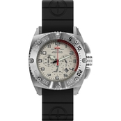 MTM Special Ops Mens Silver Patriot Chronograph with Rubber Strap