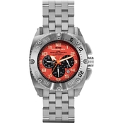 MTM Special Ops Mens Silver Patriot Chronograph with Steel Band