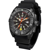 MTM Special Ops Mens Black Warrior Watch with Rubber Strap