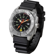 MTM Special Ops Mens Silver Warrior Watch with Rubber Strap