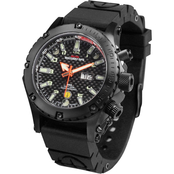 MTM Special Ops Mens Black Vulture Titanium Watch with Rubber Strap