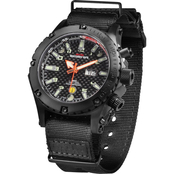MTM Special Ops Mens Black Vulture Titanium Watch with Neoprene Strap