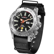 MTM Special Ops Mens Silver Vulture Titanium Watch with Black Neoprene Strap