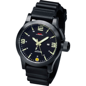 MTM Special Ops Mens Hypertec XL Black Watch with Lumi Dial