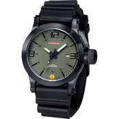 MTM Special Ops Mens Hypertec Black Watch with Green/Black Dial