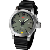 MTM Special Ops Mens Hypertec XL Silver Watch with Black Dial