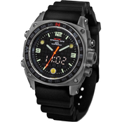 MTM Special Ops Mens Silencer Sandblast Watch with Rubber Strap