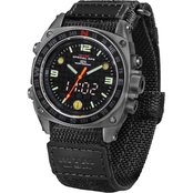 MTM Special Ops Mens Silencer Sandblast Watch with Ballistic Velcro Strap