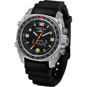 MTM Special Ops Mens Silencer Silver Watch - Rubber Strap