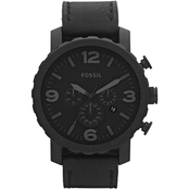 Fossil Men's Nate Oversized Rugged Blackout Chronograph JR1354