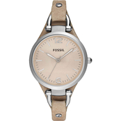 Fossil Women's Georgia Watch with Sand Leather Strap 5275275