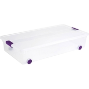 Sterilite ClearView Underbed Latch Box 60 Qt.