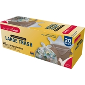 Exchange Select Trash Bags 30 Gallon .85 mil, Clear 20 pk.