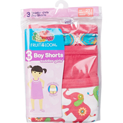Fruit of the Loom Toddler Girls Boy Shorts 3 Pk.