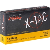 PMC XTAC 5.56 NATO 55 Gr. FMJ, 20 Rounds