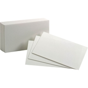 Oxford 3 X 5 In. White Blank Index Cards 100 Pk.