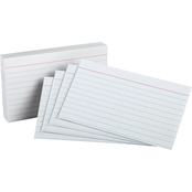 Oxford White Ruled Index Cards 100 Pk.