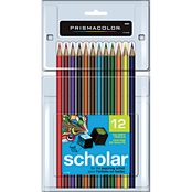 Prismacolor Scholar Colored Woodcase Pencils, Assorted Colors 12 pc. Set