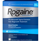Rogaine Men's Extra Strength Topical Solution Hair Regrowth Treatment 3 Pk.