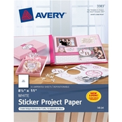 Avery Sticker Project Paper 8.5 x 11 in., White, 15 pk.