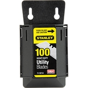 Stanley 100 ct. Utility Knife Blades with Wall Mount Dispenser