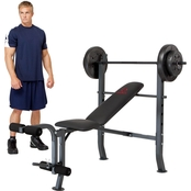 Marcy Olympic Bench with 80 lb. Weight Set