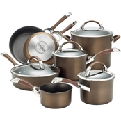 Circulon Symmetry Chocolate 11 pc. Hard-Anodized Nonstick Cookware Set