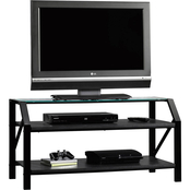 Sauder Beginnings TV Stand With Glass Top