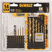 DeWalt 14 Pc. Pilot Point Titanium Drill Bit Set
