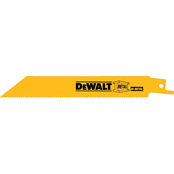 DeWalt 6 in. Straight Saw Reciprocating Blade 14 TPI 2 pk.