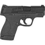 S&W Shield 9MM 3.1 in. Barrel 8 Rds 2-Mags Pistol Black with Thumb Safety