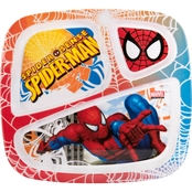 Zak Designs Spider-Man Divided Plate for Kids