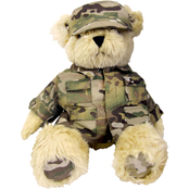 Bear Forces of America Plush Bear in the Army Multi Cam Uniform, 16 in.