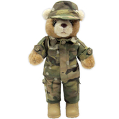 Bear Forces of America Plush Bear in Army Multi Cam Uniform, 11 in. Female