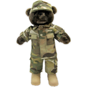 Bear Forces of America 11 in. Male Plush Bear in the Army Multi Cam Uniform