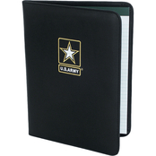 Mercury Luggage Army Embroidered Padfolio