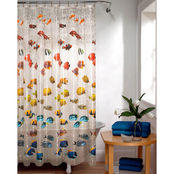 Maytex New School Embossed Shower Curtain
