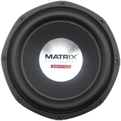 Matrix Mobilesound 10 in. 1200W Dual Voice Coil Double Stacked Magnet Subwoofer