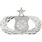 Air Force Senior Weapons Controller Badge, Mirror Finish, Pin-on, Regular Size