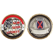 Challenge Coin Back from Iraq 10th Mountain Coin