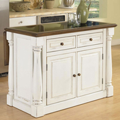 Home Styles Monarch Kitchen Island with Black Granite Insert
