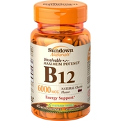 Sundown Naturals Sublingual B-12 6000 mcg Tablets 60 Pk.