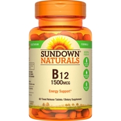 Sundown Naturals B-12 1500 mcg Time Release Tablets 60 Pk.