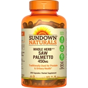 Sundown Naturals Saw Palmetto 450 mg Capsules 250 Pk. Value Size