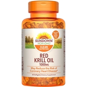 Sundown Naturals Triple Strength Red Krill Oil 1000mg Softgels 60 Pk.
