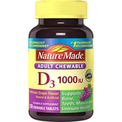 Nature Made Adult Chewable D 1000 IU Tablet 120 Ct.