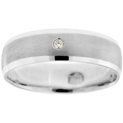 10K White Gold Diamond Accent Ring, Size 13