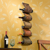 SEI Florenz Wall Mount Wine Rack Sculpture