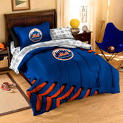 Northwest MLB New York Mets Twin 5 pc. Contrast Bed in a Bag Set