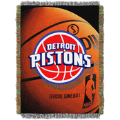 Northwest NBA Detroit Pistons Photo Real Tapestry Throw